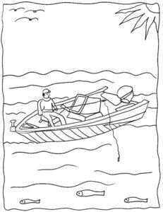 Рыбалка картинки раскраски (45)
