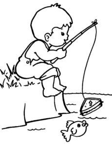 Рыбалка картинки раскраски (46)