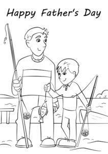 Рыбалка картинки раскраски (50)