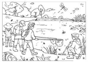 Рыбалка картинки раскраски (52)
