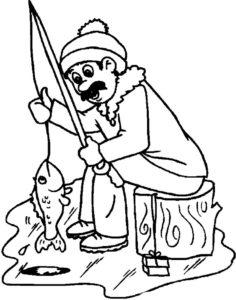 Рыбалка картинки раскраски (54)