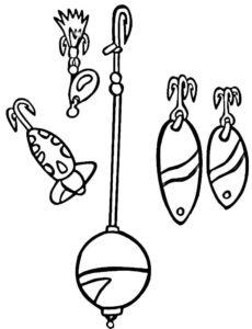 Рыбалка картинки раскраски (57)