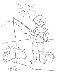 Рыбалка картинки раскраски (6)