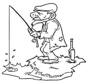 Рыбалка картинки раскраски (63)