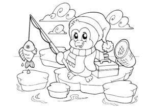Рыбалка картинки раскраски (65)