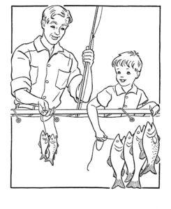 Рыбалка картинки раскраски (67)