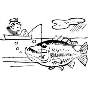 Рыбалка картинки раскраски (76)