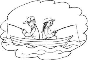 Рыбалка картинки раскраски (78)