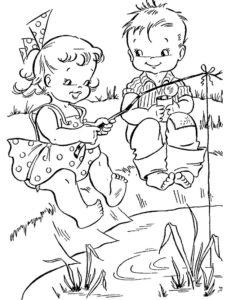 Рыбалка картинки раскраски (8)