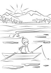 Рыбалка картинки раскраски (82)