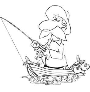 Рыбалка картинки раскраски (85)