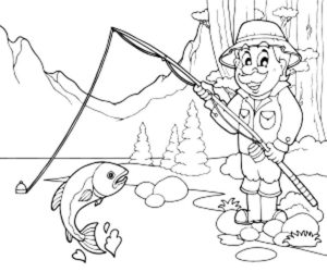 Рыбалка картинки раскраски (89)