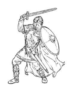 Рыцари картинки раскраски (1)