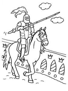 Рыцари картинки раскраски (10)