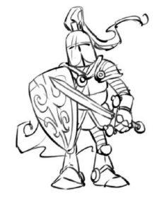 Рыцари картинки раскраски (11)