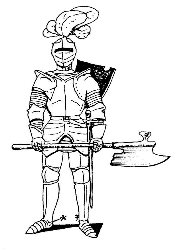 Рисунок рыцаря средневековья