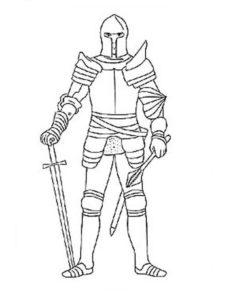 Рыцари картинки раскраски (13)