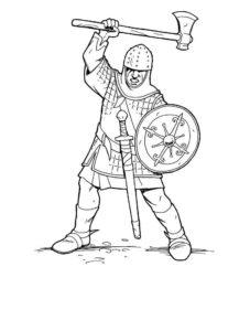 Рыцари картинки раскраски (14)