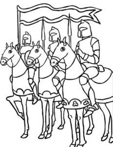 Рыцари картинки раскраски (15)