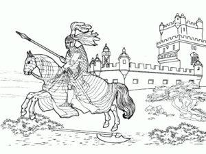 Рыцари картинки раскраски (16)