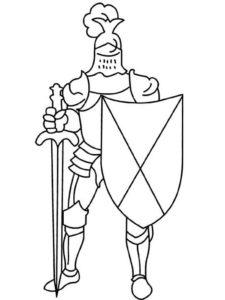 Рыцари картинки раскраски (17)