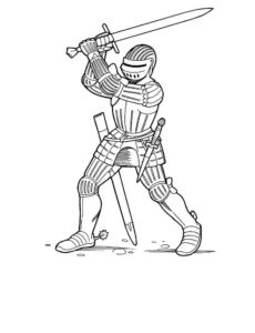 Рыцари картинки раскраски (18)