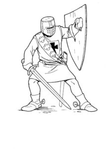 Рыцари картинки раскраски (19)
