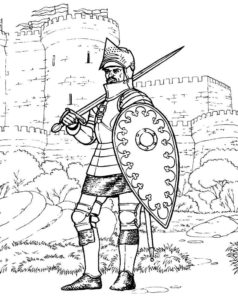 Рыцари картинки раскраски (21)