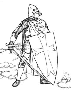 Рыцари картинки раскраски (22)