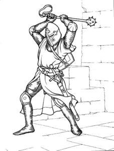 Рыцари картинки раскраски (24)
