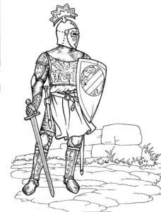 Рыцари картинки раскраски (25)