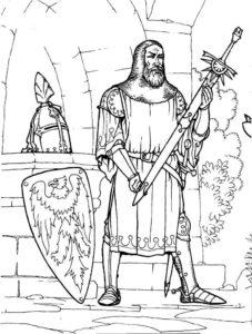Рыцари картинки раскраски (27)