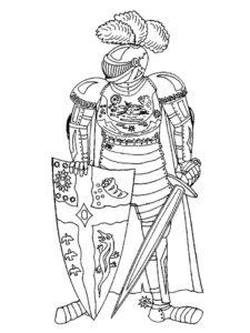 Рыцари картинки раскраски (28)