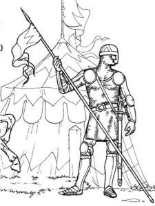 Рыцари картинки раскраски (29)