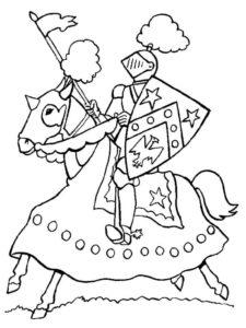 Рыцари картинки раскраски (3)