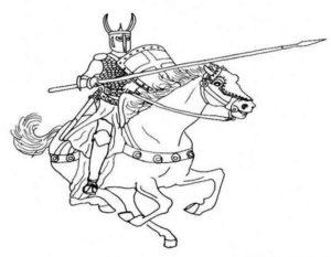 Рыцари картинки раскраски (30)