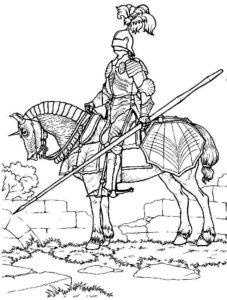 Рыцари картинки раскраски (31)