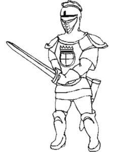 Рыцари картинки раскраски (33)