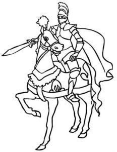 Рыцари картинки раскраски (35)