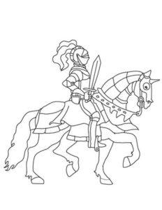 Рыцари картинки раскраски (36)