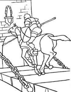 Рыцари картинки раскраски (37)