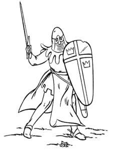Рыцари картинки раскраски (38)