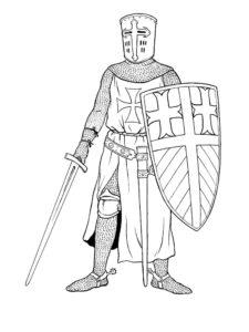 Рыцари картинки раскраски (39)