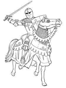 Рыцари картинки раскраски (4)