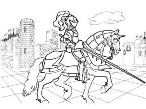 Рыцари картинки раскраски (41)