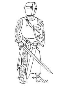 Рыцари картинки раскраски (42)