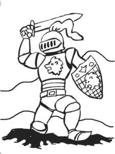 Рыцари картинки раскраски (43)
