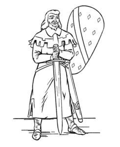 Рыцари картинки раскраски (44)