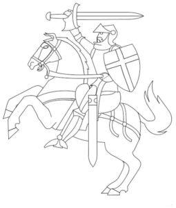 Рыцари картинки раскраски (45)