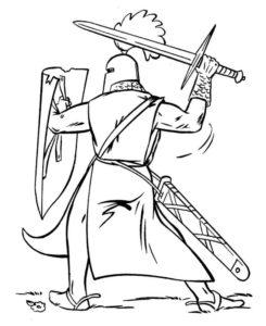 Рыцари картинки раскраски (46)